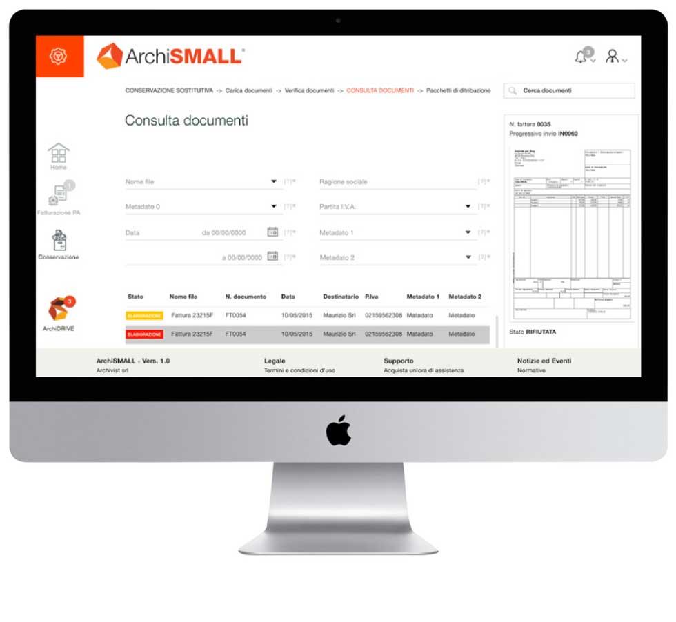ArchiSMALL - il servizio per la fatturazione elettronica pensato per il tuo business