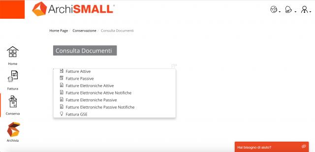 Conservazione Digitale - Consulta documenti